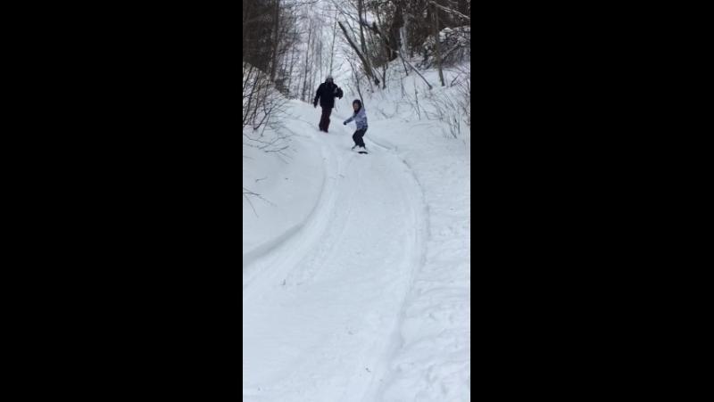 Первые шаги Кати (9 лет)_школа сноуборда sb69.pro