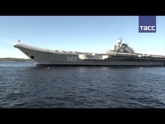 Адмирал Кузнецов принял участие в репетиции парада ко Дню ВМФ