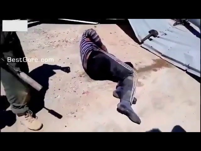 Russians Torturing Syrian Prisoner With Sledge Hammer