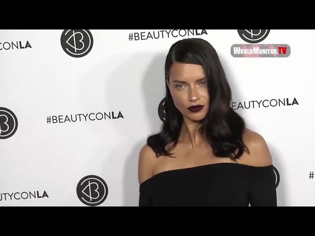 Supermodel Adriana Lima arrives at 2017 Beautycon Festival Los Angeles · coub, коуб