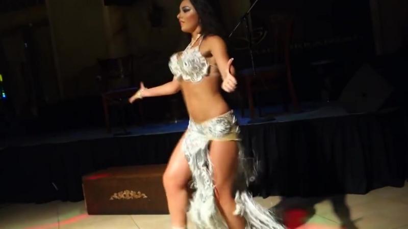 Alla Kushnir dancing to Shik Shak Shok at the Gate , Encino , California