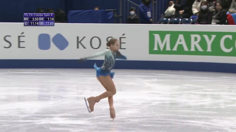 Alexandra TRUSOVA RUS- ISU JGP Final - Ladies Feee Skating - Nagoya 2017