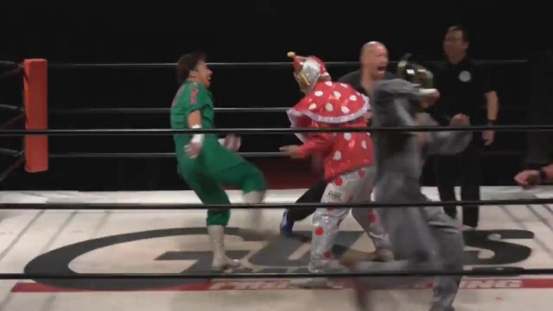 Kenichiro Arai Shota Buffalo vs Keizo Matsuda Kuishinbo Kamen YUJI KITO GUTS World Vol 112 GUTS ISM 2017