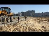 Укрепление грунтов цементом на строительной полошащее по ул. Взлетная 33