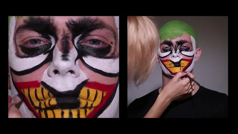 Грим Джокера на Хэллоуин