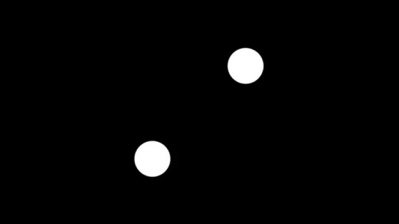 Оптическая иллюзия с мигающими белыми шариками