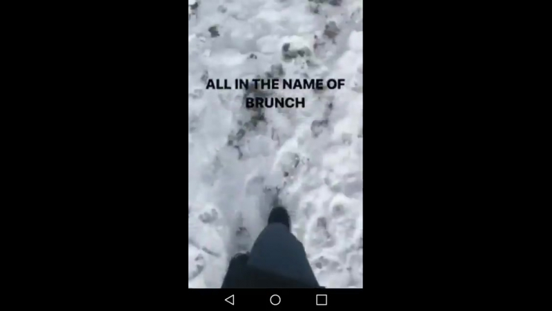 When you are willing to walk on the snow for miles in the name of brunch....😂😂😂...yeah I'm exaggerating but it can be true 😝 @Wa