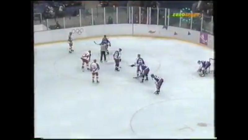 Олимпийские игры в Лиллехаммере. Хоккей. 1/4 финала. Словакия - Россия (23.02.1994)