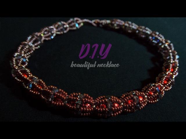 Beaded necklace tutorials. DIY. Мастер Класс Tutorial Necklace Master Class!