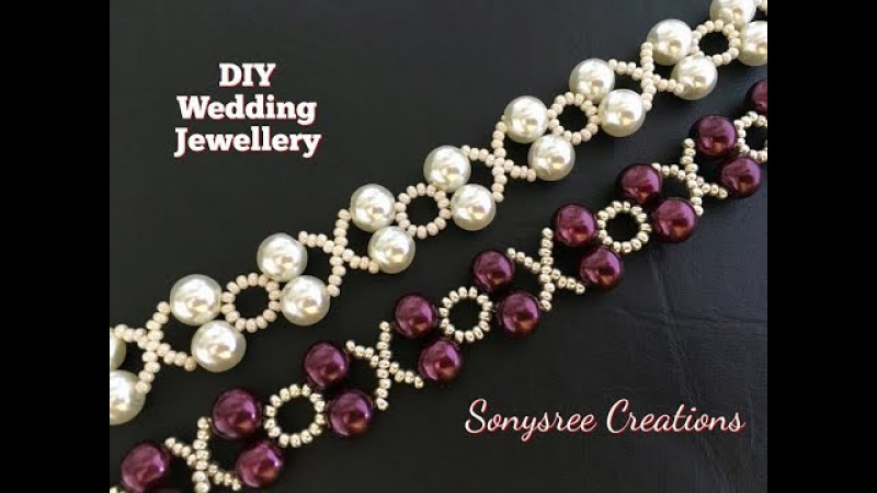 XOXO Beaded Bracelet Wedding Jewelry in 10 Minutes 👍🏻👰🏻 DIY