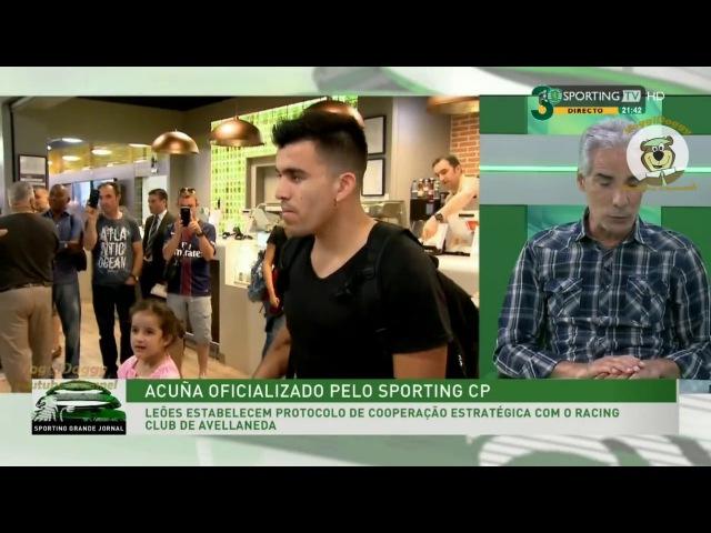 Acuña Oficializado como Jogador do Sporting Análise de Joaquim Melo HD
