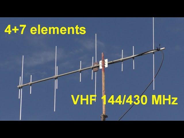 Антенна 47 элементов на 144-430 МГц (разработка RZ9CJ)