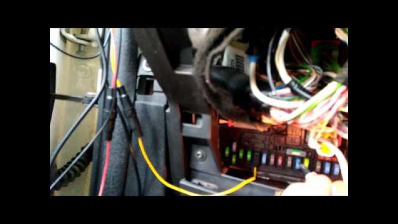 Подключение зеркала Junsun 7 в пежо партнер типи