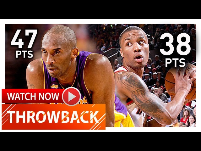 Prime Kobe Bryant vs Rookie Damian Lillard EPIC Duel Highlights (2013.04.10) - Must Watch!