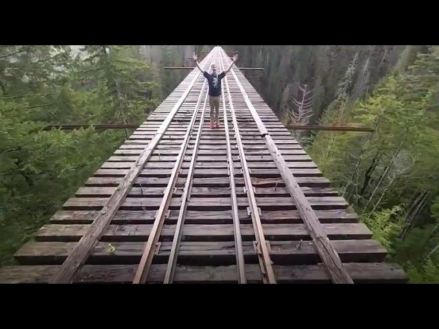 Vance Creek Bridge. Самый высокий заброшенный мост в США.