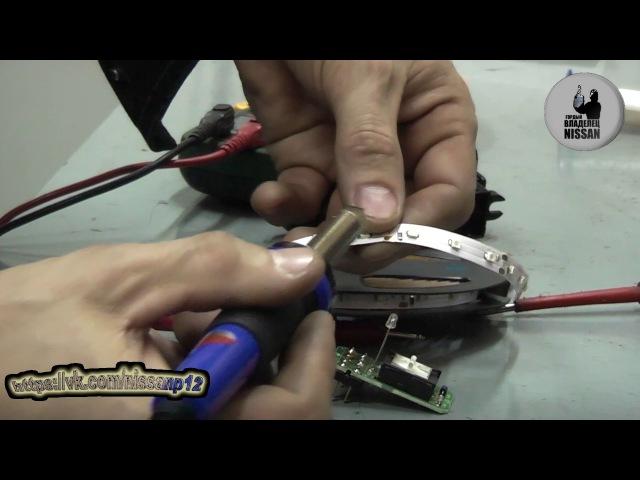Nissan Primera P12. Инструкция по пересвету кнопок стеклоподъемников