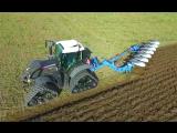 Уникальная Вспашка Земли Трактором Fendt 724 Vario Black