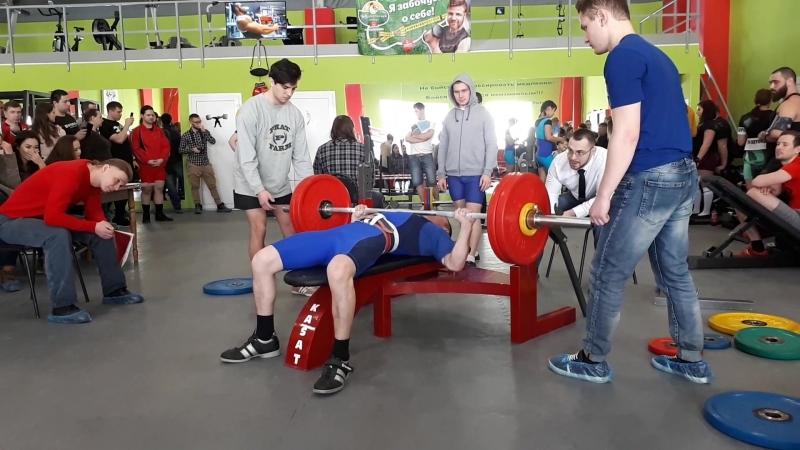 2 место на Богатырских играх 2018 Челябинск.. (Классический жим) в весовой категории до 75 кг.