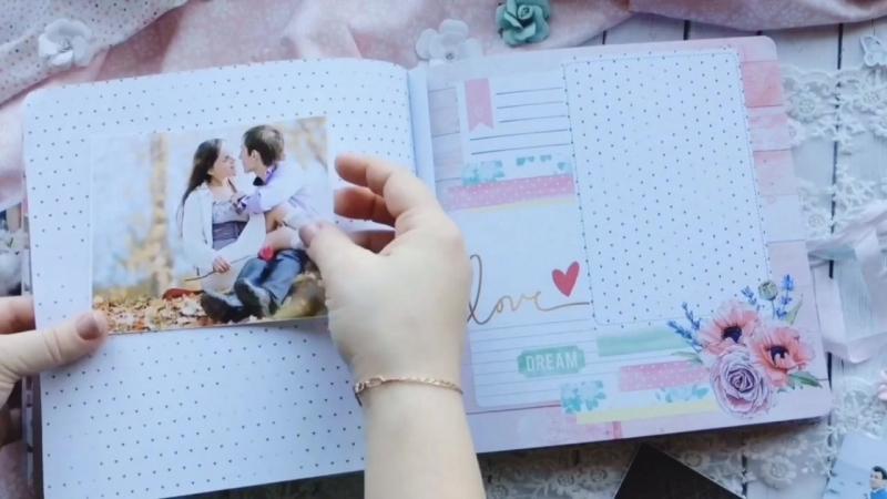 Свадебный фотоальбом для молодоженов Антона и Ольги