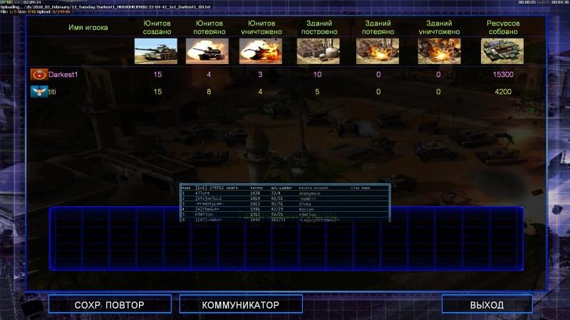 Command Conquer Generals — Zero Hour - 14/02/2018 vs titi