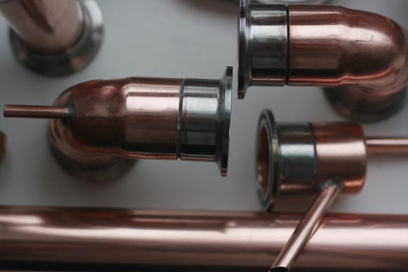 Медный самогонный аппарат на клампах где купить самогонный аппарат заводской