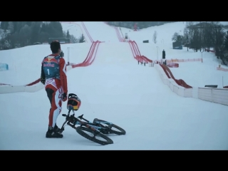 Downhill MTB on steepest World Cup Ski Course.