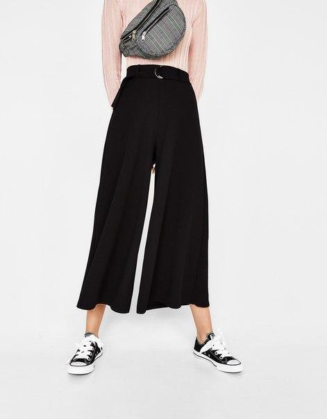 Укороченные широкие брюки