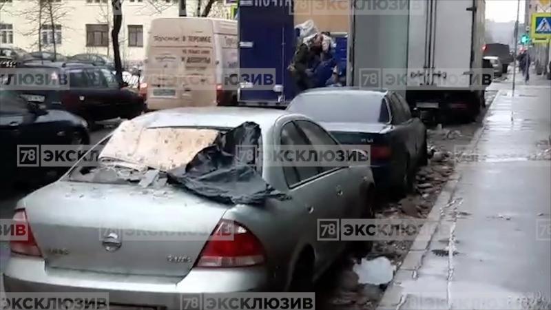 Наледь разбила машины