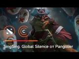 Как скастовать Global Silence, играя за Pangolier
