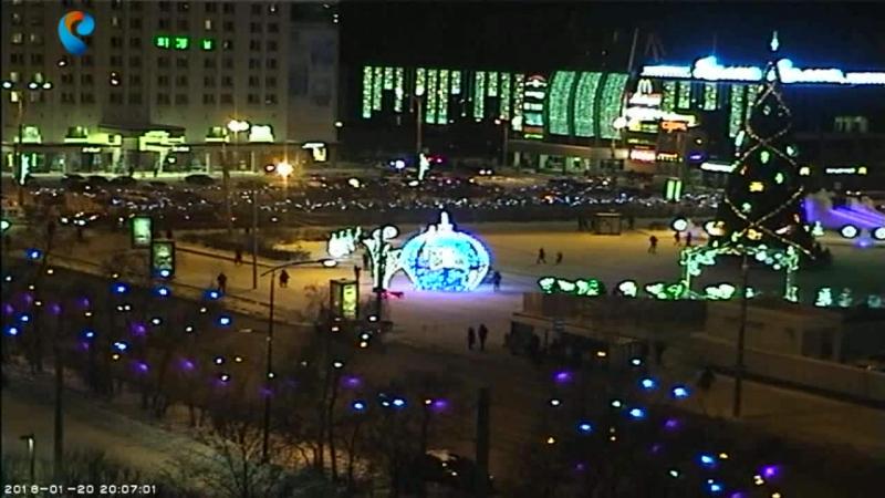 Мурманск Площадь - Пять углов,гостинница Арктика,универмаг Волна.