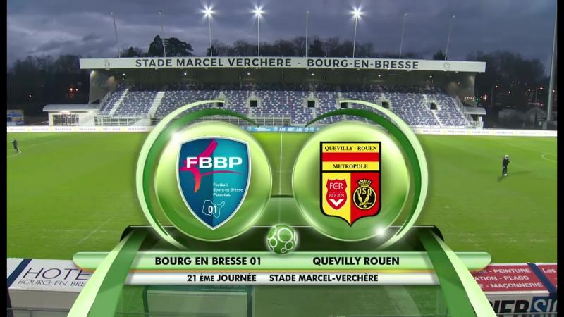 Лига 2. 21 тур. Бур-ан-Бресс - Кевийи-Руан (Обзор матча)