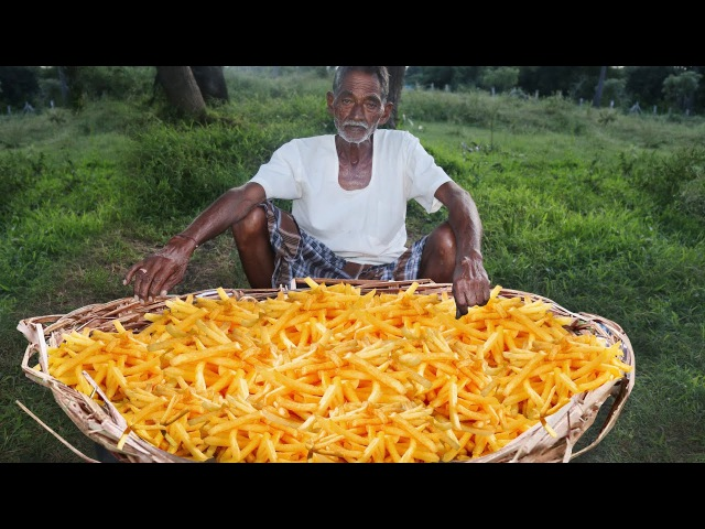 French Fries Recipe | Crispy French Fries Recipe Cooking by our grandpa for Orphan kids