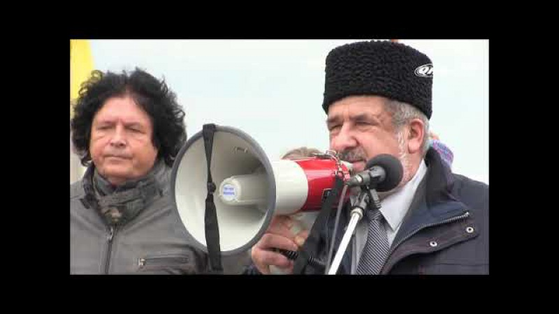 Крымские татары пришли к российским позициям на Чонгаре