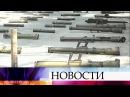 Сирийские военные показали журналистам захваченное убоевиков оружие западного производства
