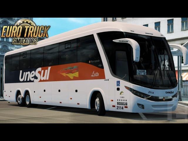 Euro Truck Simulator 2 (Version 1.28) | Scania Marcopolo Paradiso G7 1200 AWD 6x6 Config | Carazinho - Porto Alegre (Brazil Map) | Logitech G27.
