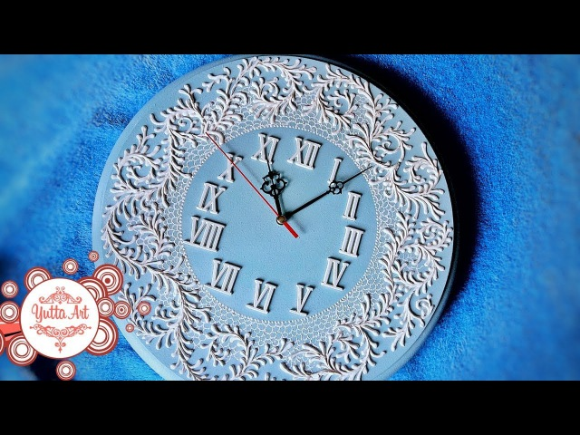 Часы настенные оригинальные для гостинной. Делаем сами. Диайвай