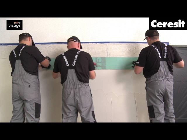 Имитация фактуры дерева на мокром штукатурном фасаде материалами Ceresit