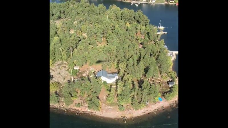 Пролетая на вертолёте над Стокгольмским архипелагом