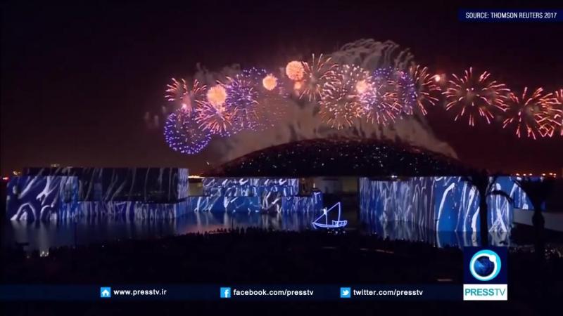 Fireworks bring to close Abu Dhabi Louvre opening