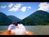 Красивая свадебная церемония для Андрея и Виктории на озере Рица, Абхазия