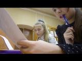 урок литературы,пишем контрольную)))