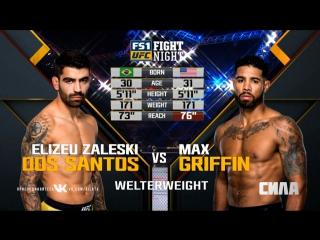 UFC Fight Night Полусредний вес Элизеу Залески Дос Сантос — Макс Гриффин