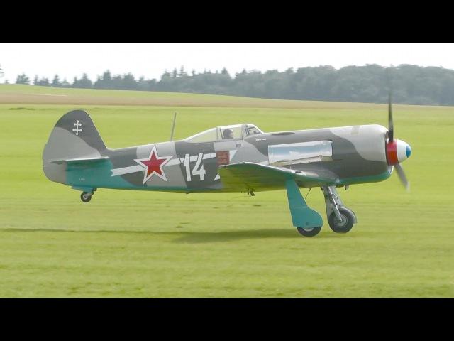 Yakovlev Yak-11 Engine Start, Takeoff and Landing