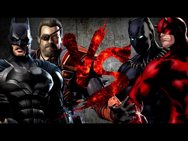 Бэтмен и Дефстроук VS Сорвиголова и Пантера [Bifrost Fight Club 3.0]