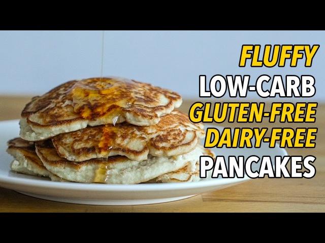 Низкоуглеводные блинчики без глютена и молочки. Ultimate Low-Carb, Gluten Free, Dairy Free Pancakes Panqueques Bajos en Carbohidratos