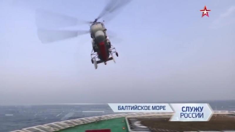 Видеоиллюстрация «Поисково-спасательные вертолеты Ка-27ПС на ледоколе «Илья Муромец»