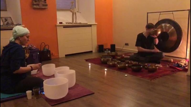 Концерт с гонгом, тибетскими и хрустальными чашами