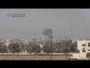 Сирия 11.01.18: ВВС САР наносит авиаудары по бармалеям в г. Ирбин, восточная Гута.