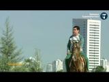 Президент Туркменистана верхом осмотрел строительные объекты столицы