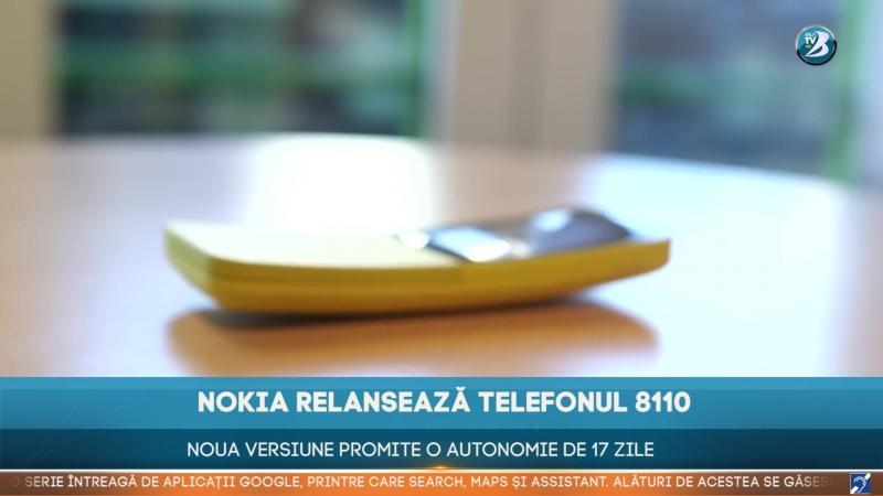 NOKIA RELANSEAZĂ TELEFONUL 8110. NOUA VERSIUNE PROMITE O AUTONOMIE DE 17 ZILE